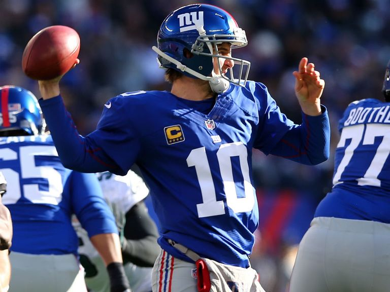 Eli Manning: threw a career-high five touchdown passes