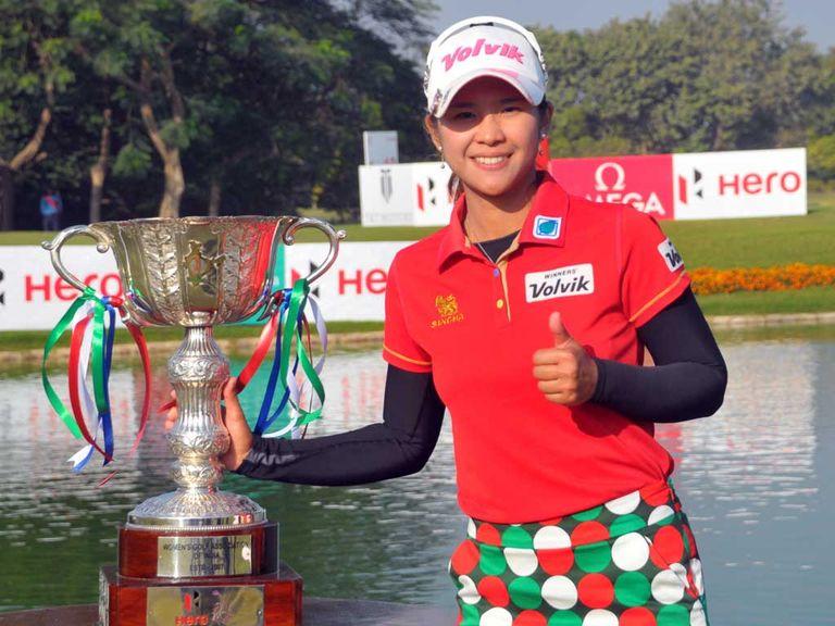 Pornanong Phatlum celebrates her latest victory