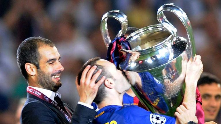 Andres Iniesta played under Pep Guardiola for four years at Barcelona