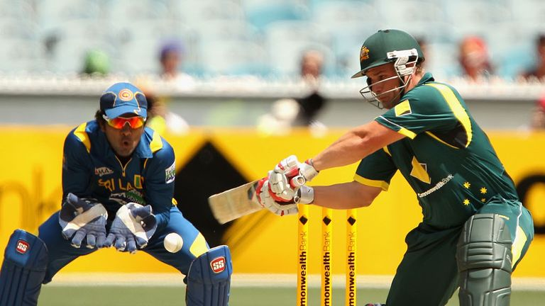 Aaron Finch was one of three batsmen to make their debuts...
