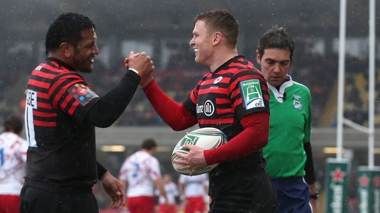 Chris Ashton: Scored twice against Edinburgh