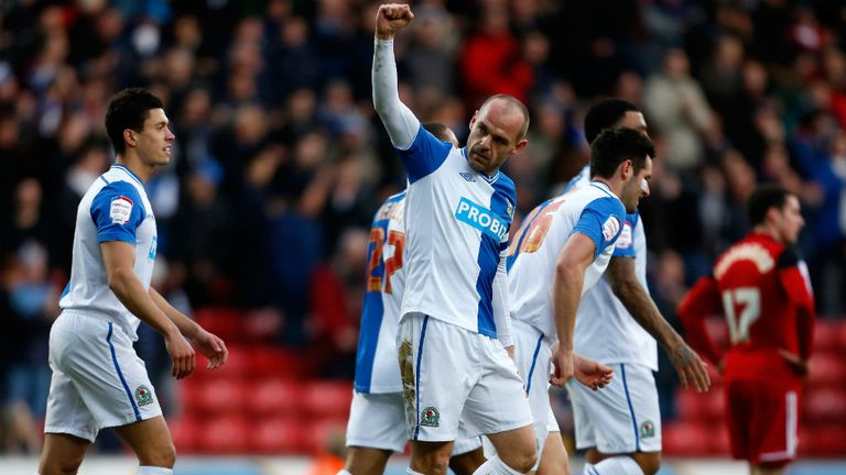 Danny Murphy: Celebrates his goal against Bristol City