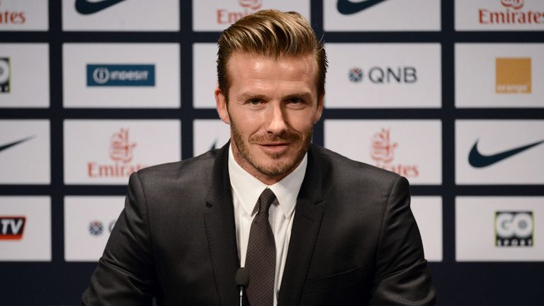 David Beckham: Has not played for England since 2009 under Fabio Capello