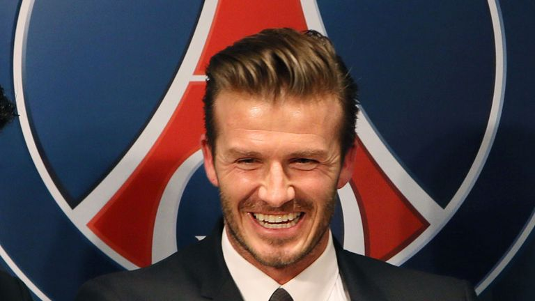 David Beckham: Completed first training session, but lacks match fitness