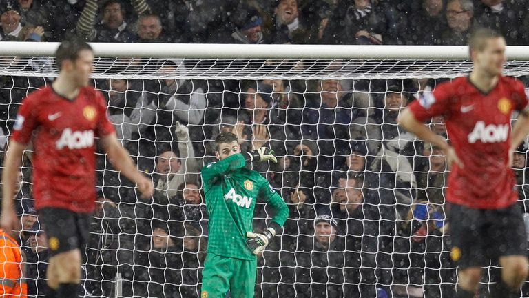 David de Gea: Beaten by Tottenham's Clint Dempsey in stoppage-time on Sunday