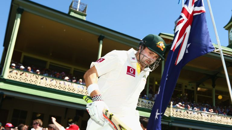 Australia started their innings with the first ball, and Ed Cowan was soon out for four, the score on 36.