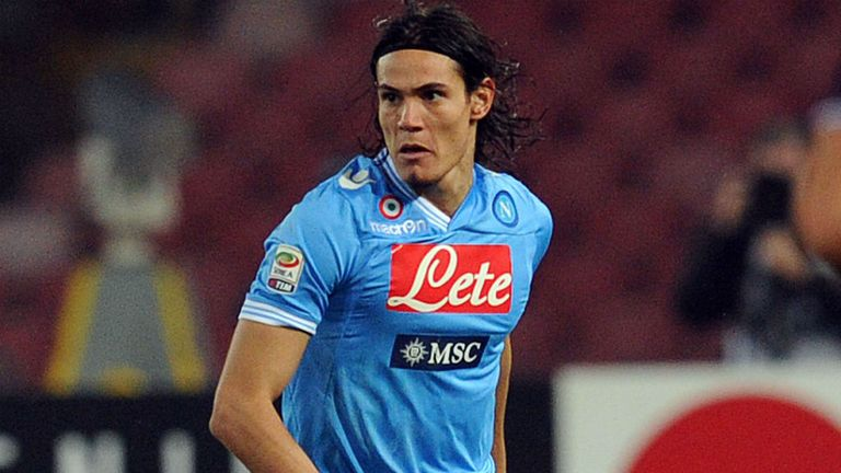 Edinson Cavani: Happy at Napoli but linked with Arsenal, Barcelona and Real Madrid