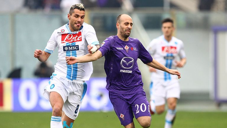 Borja Valero: The midfielder has impressed as Fiorentina chase Serie A's Champions League places