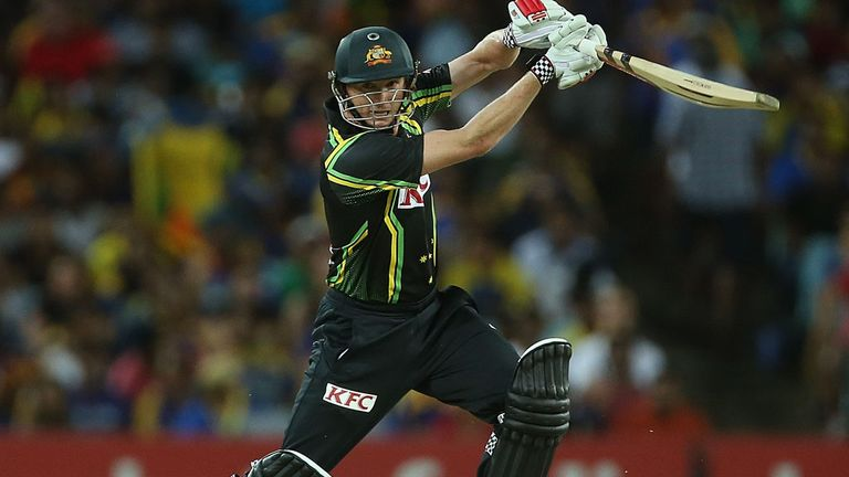Skipper George Bailey batting against Sri Lanka in first T20 in Sydney