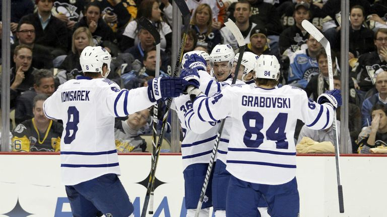 James van Riemsdyk: Scored two goals for the Toronto Maple Leafs