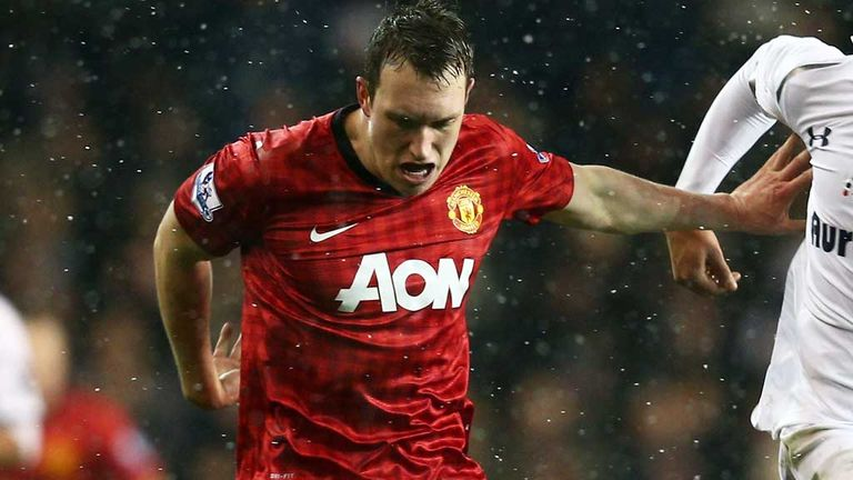 Phil Jones in action against Tottenham