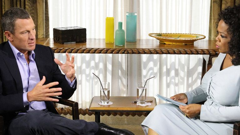 Lance Armstrong: Confessed to doping in a confessional interview with talk show host Oprah Winfrey this week.