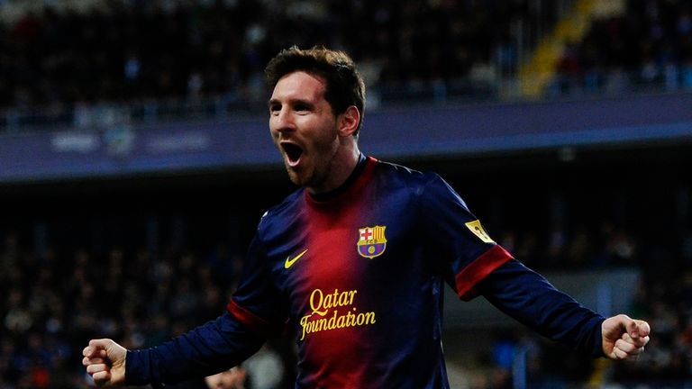 Lionel Messi: Picked up a knock