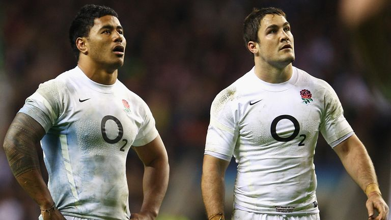 Brad Barritt, right, will be without his usual centre partner Manu Tuilagi against Scotland