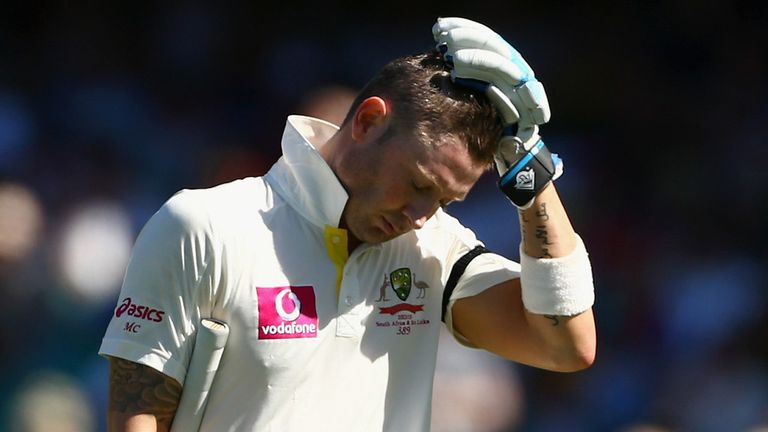 Michael Clarke: Australia captain was stumped first ball