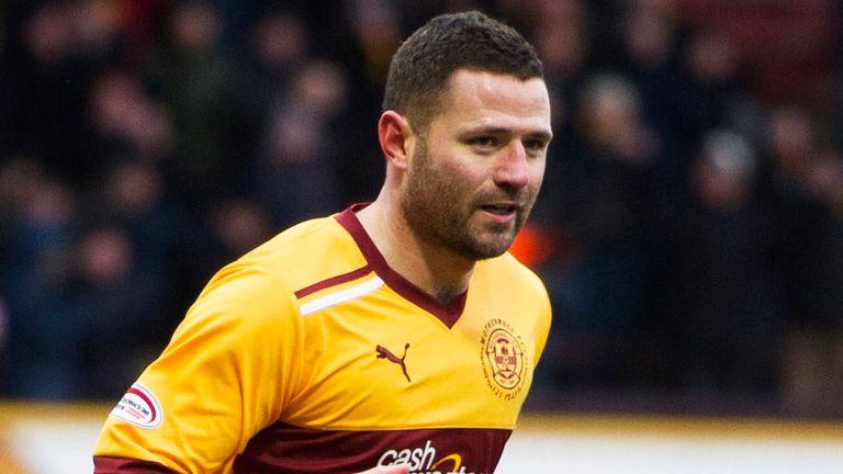Michael Higdon: Scored opening goal in Motherwell's 2-1 win at Hearts
