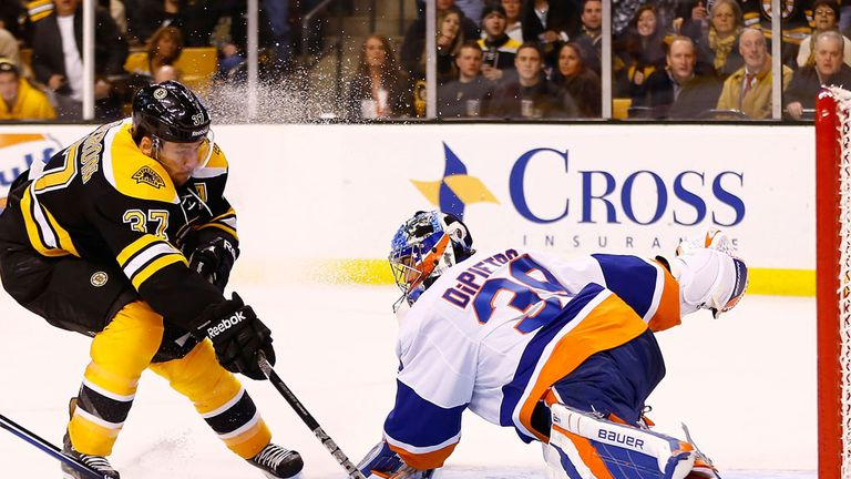 Patrice Bergeron: On target against New York Islanders