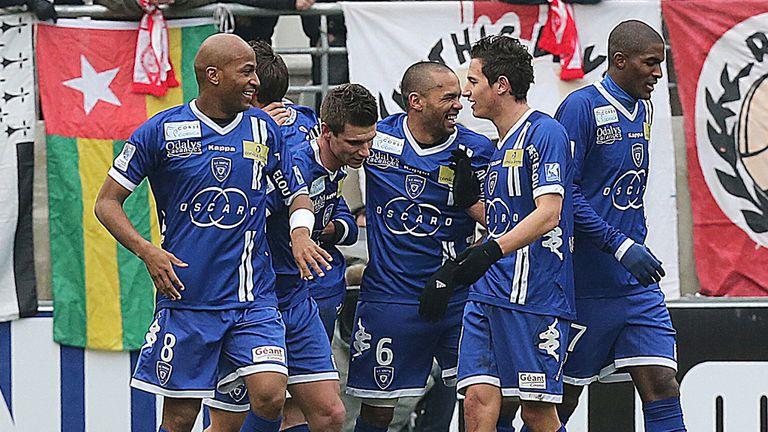 Bastia celebrate Ilan's goal