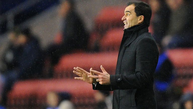 Roberto Martinez: Saw Wigan fall to 3-2 home defeat to Sunderland