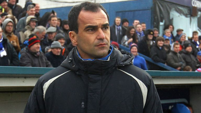 Wigan boss Roberto Martinez prepares to take his side to Chelsea