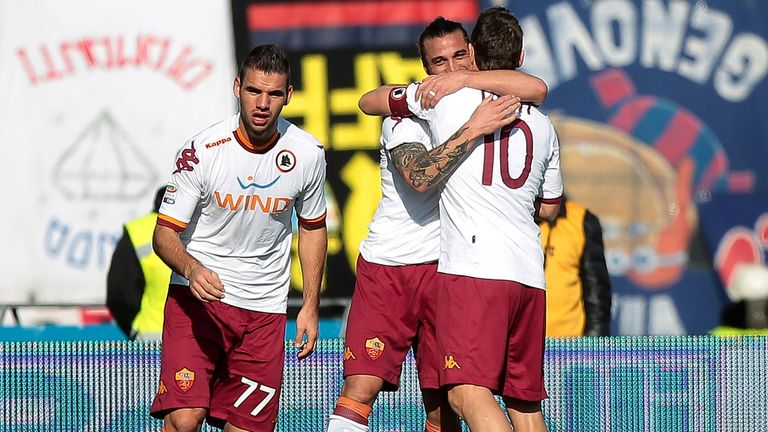 Roma celebrate at Bologna