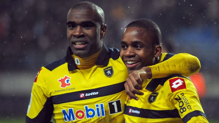 Cedric Bakambu (right): Earned Sochaux win over Lyon