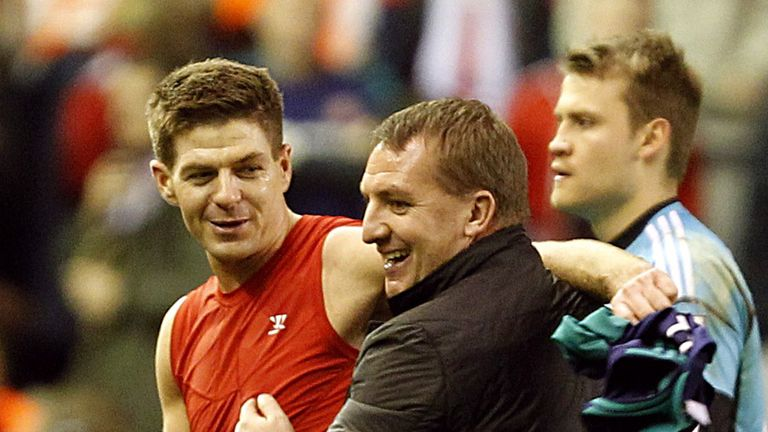Steven Gerrard backing Brendan Rodgers to succeed