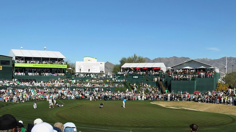 The 18th hole at TPC Scottsdale