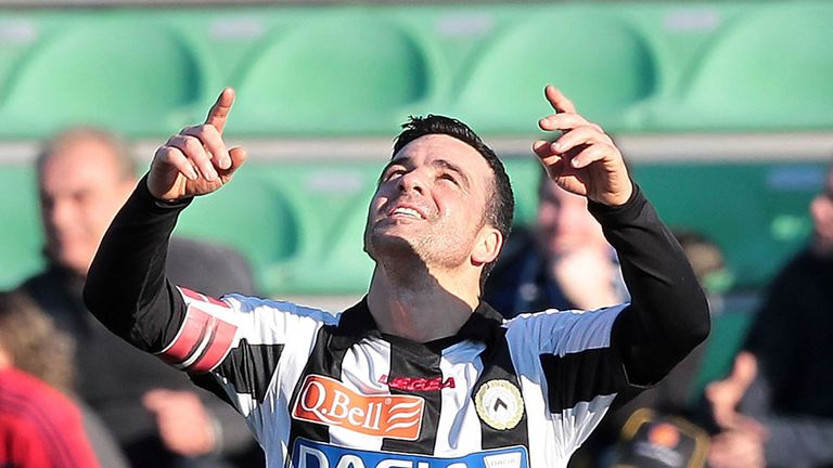 Antonio Di Natale: Scored only goal as Udinese beat Lazio