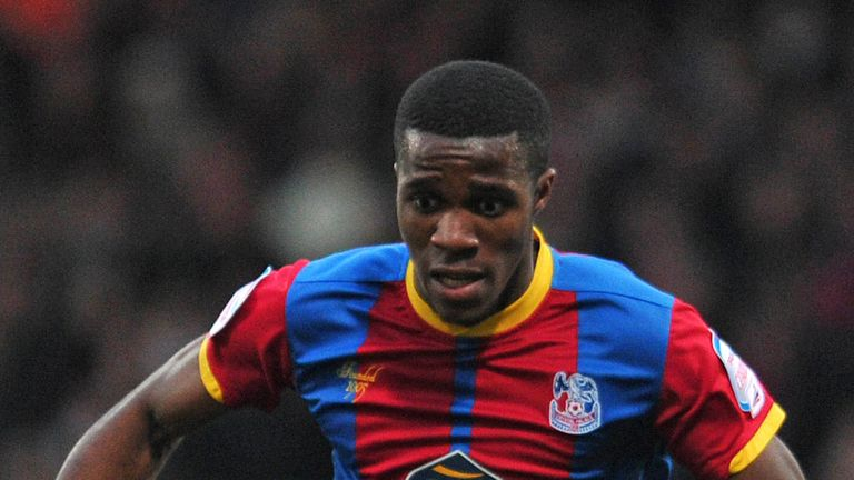 Wilfried Zaha: Focused on getting Palace back in the Premier League