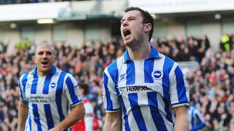 Ashley Barnes: Scored two on his return from suspension to Brighton side