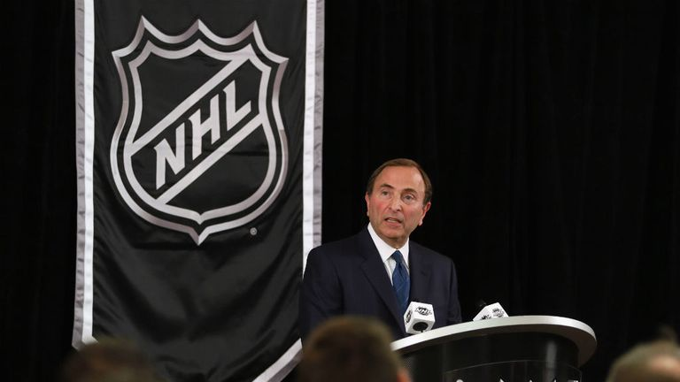 NHL commissioner Gary Bettman will finally have some games to watch on Saturday