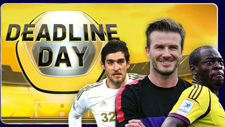 David Beckham, Danny Graham and Christopher Samba all moved on transfer deadline day