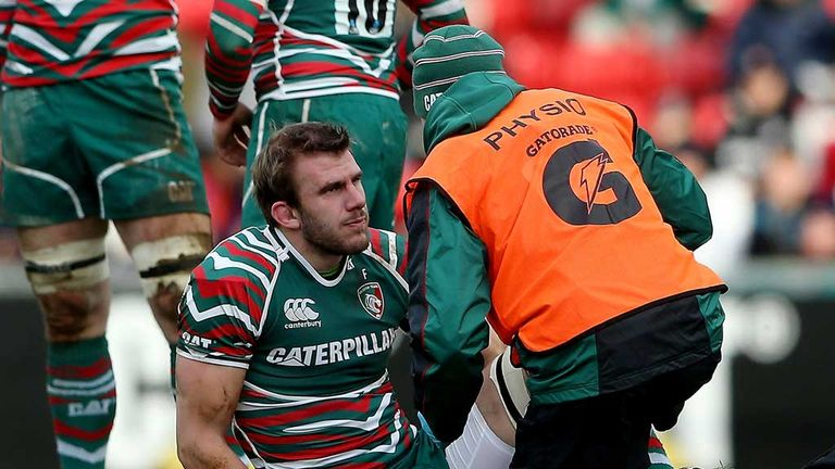 Tom Croft: Leicester flanker receives treatment during win over Wasps