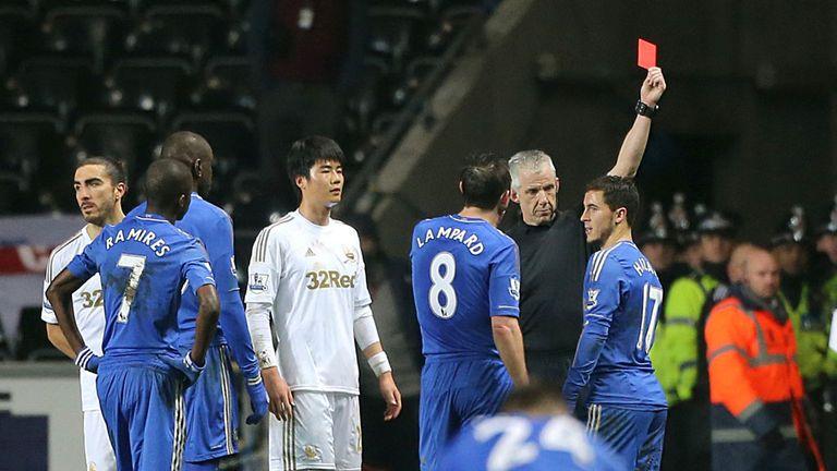 Eden Hazard: felt he had kicked the ball rather than the Swansea ball boy