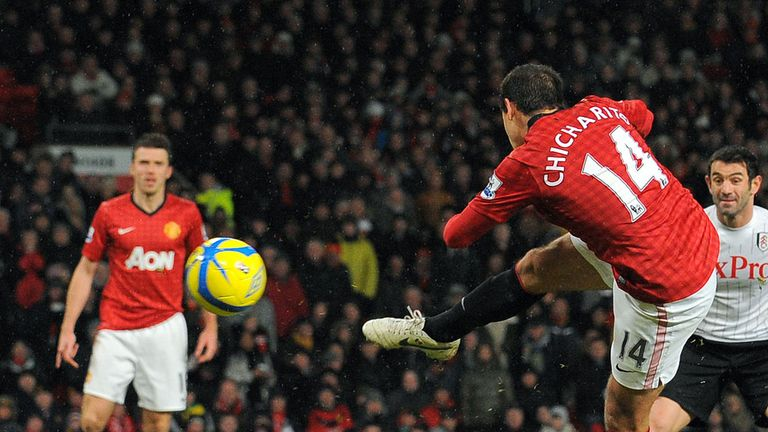 Javier Hernandez: On target in the FA Cup win over Fulham at Old Trafford