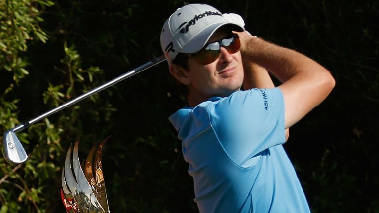 Justin Rose: finished his first round in Abu Dhabi with eight successive pars
