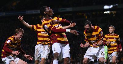 Bradford: Defending a 3-1 lead at Villa Park