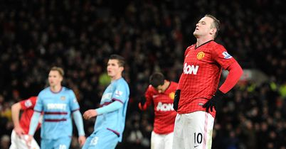 Wayne Rooney reacts to missing a penalty for Manchester United in their FA Cup win over West Ham