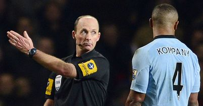 Vincent Kompany: Sent off by Mike Dean