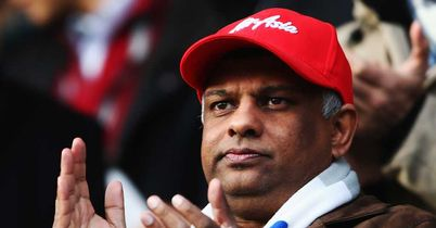 Tony Fernandes: QPR chairman during the FA Cup defeat to MK Dons