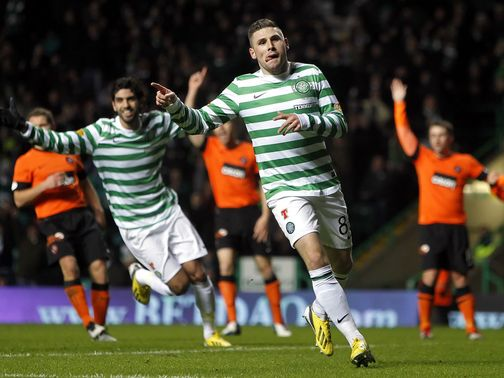 Hooper scored twice in dominant Celtic win