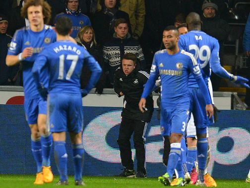 Eden Hazard clashed with a Swansea ball boy