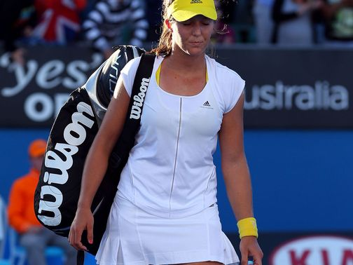 Laura Robson: Crashed out