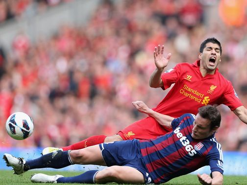 Luis Suarez: Admitted to &#39;falling&#39; against Stoke in October