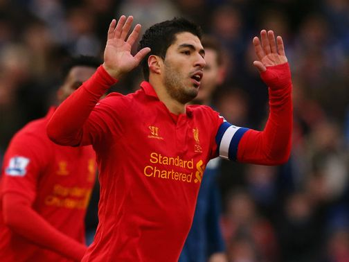 Luis Suarez: Very happy at Anfield