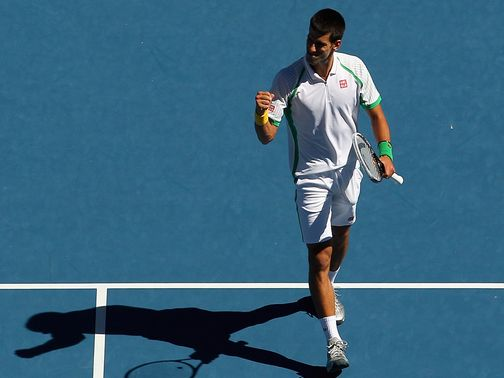 Djokovic won through to round two in straight sets
