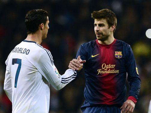 Real Madrid and Barcelona drew 1-1 at the Bernabeu