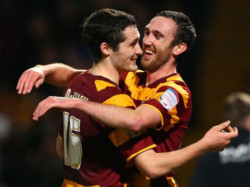 Bradford: Beat Villa 3-1 in the first leg at Valley Parade