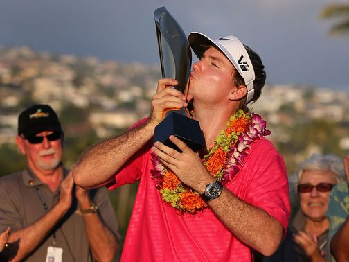 Henley celebrates his Sony Open in Hawaii victory